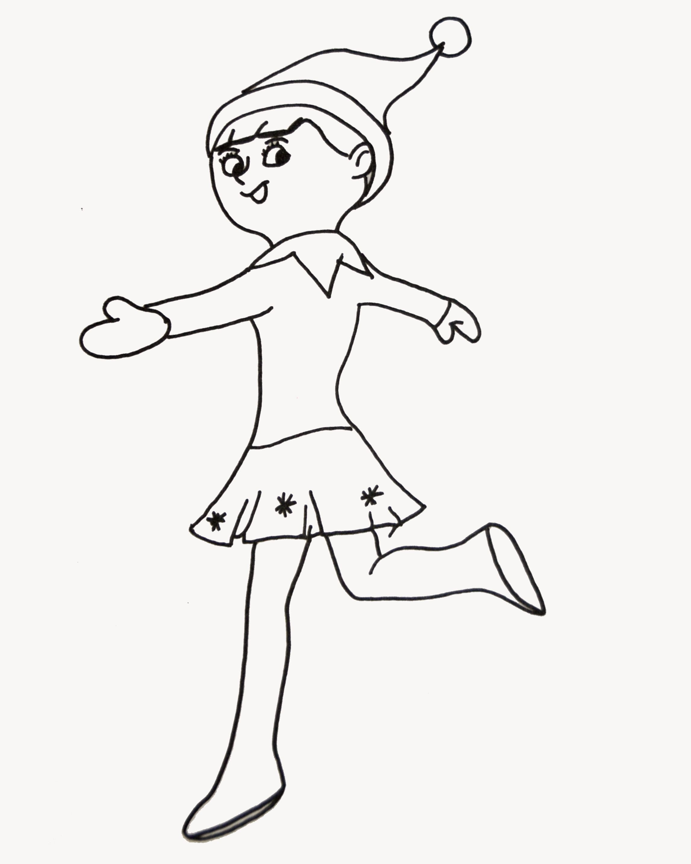 elf on the shelf coloring page elf on a shelf ideas pinterest