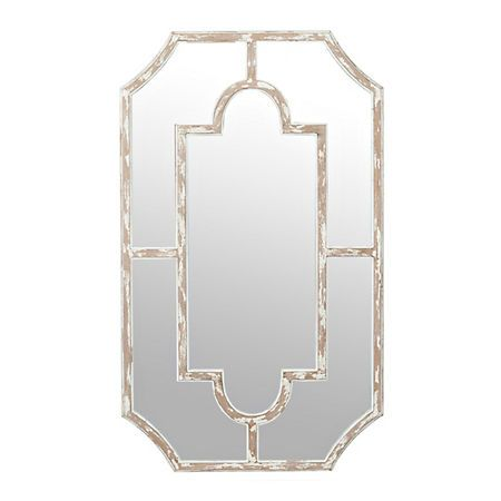 Ember Distressed White Paned Wall Mirror Kirklands Framed Mirror Wall Mirror Wall Cheap Wall Mirrors