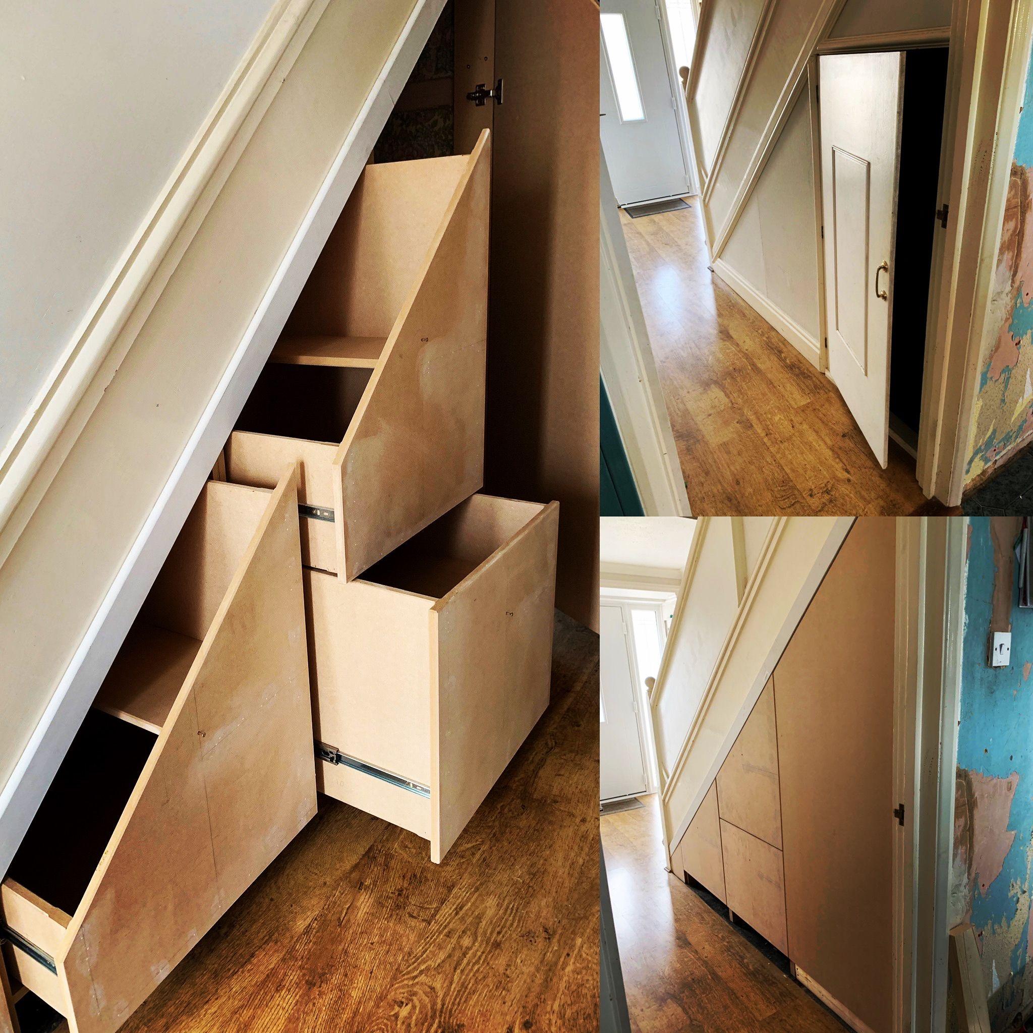 Bespoke Under Stairs Shelving: Bespoke Under Stairs Storage