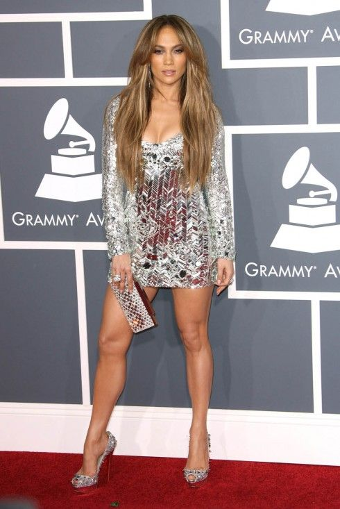 Jennifer Lopez in Emilio Pucci and Louboutin shoes at the 2011 Grammy's. HOT!