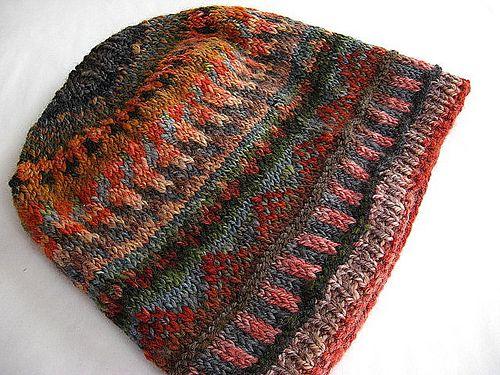 FatCatKnits\' Floppy Fairisle Hat from my own handspun yarn ...