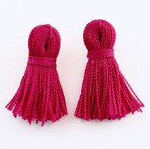Magic Magenta Mini Tassel Earrings