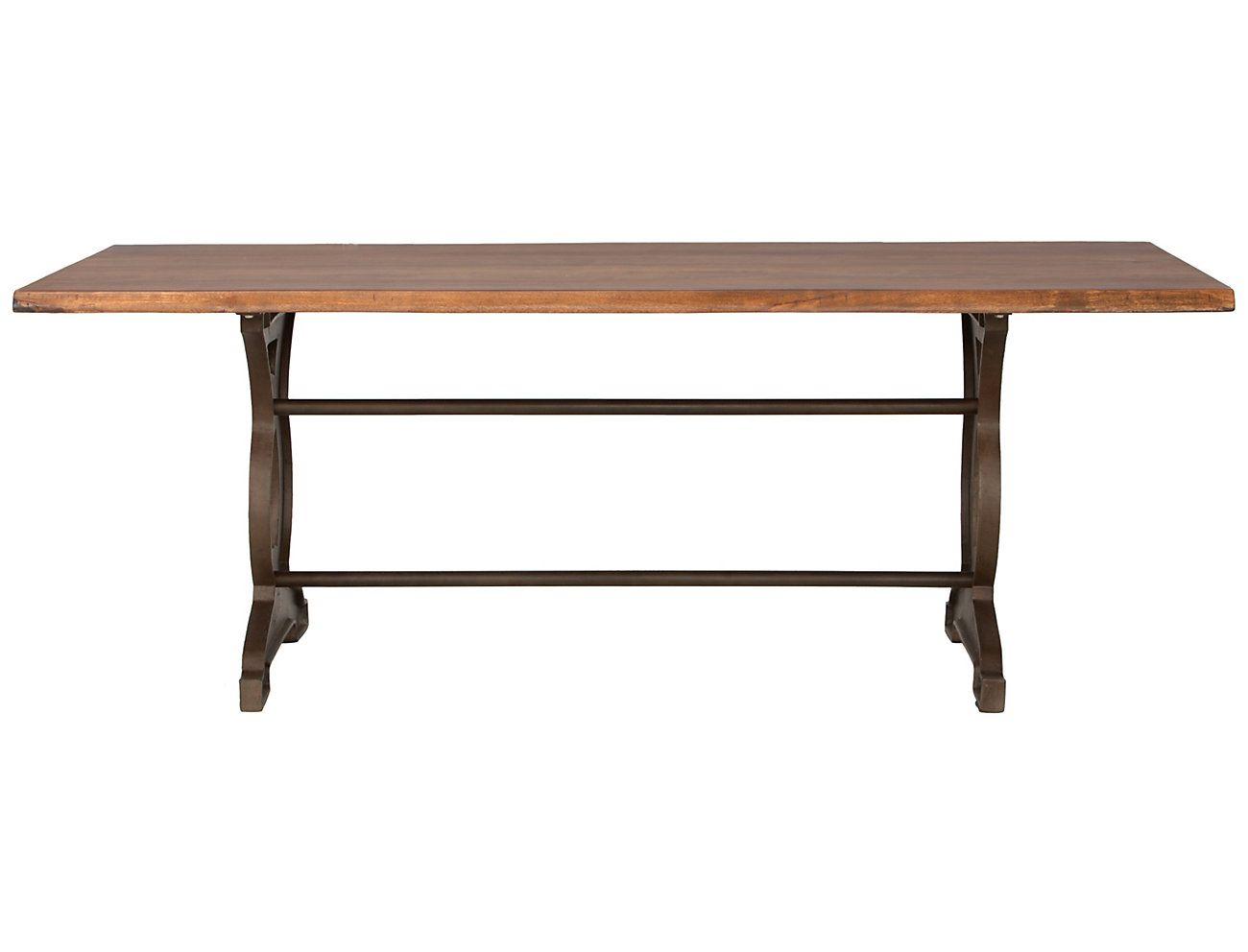 Art Van Furniture Natural Loft Dining Table Solid Acacia Wood
