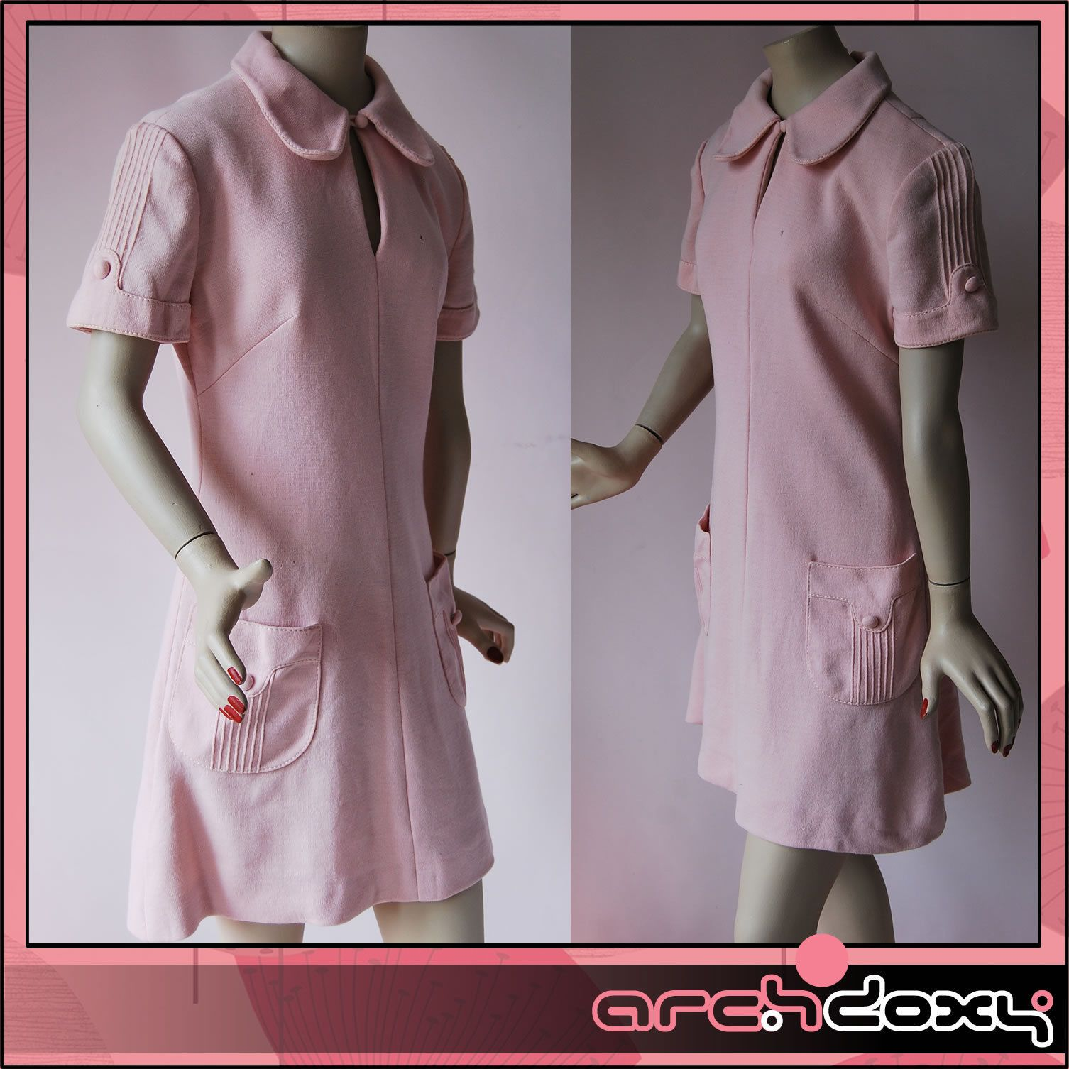 Vintage 1960s Superb Fab Baby Pink Wool Penny Collar MOD Scooter Mini Dress #vintagedress  http://www.ebay.co.uk/itm/Vintage-1960s-Superb-Fab-Baby-Pink-Wool-Penny-Collar-MOD-Scooter-Mini-Dress-UK12-/371662978778