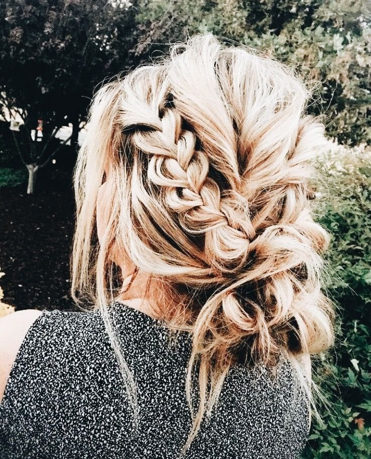 braided updo #messybraids