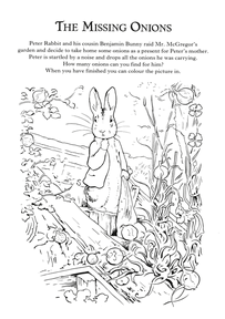 The Missing Onions Peter Rabbit Coloring Pages Beatrix Potter