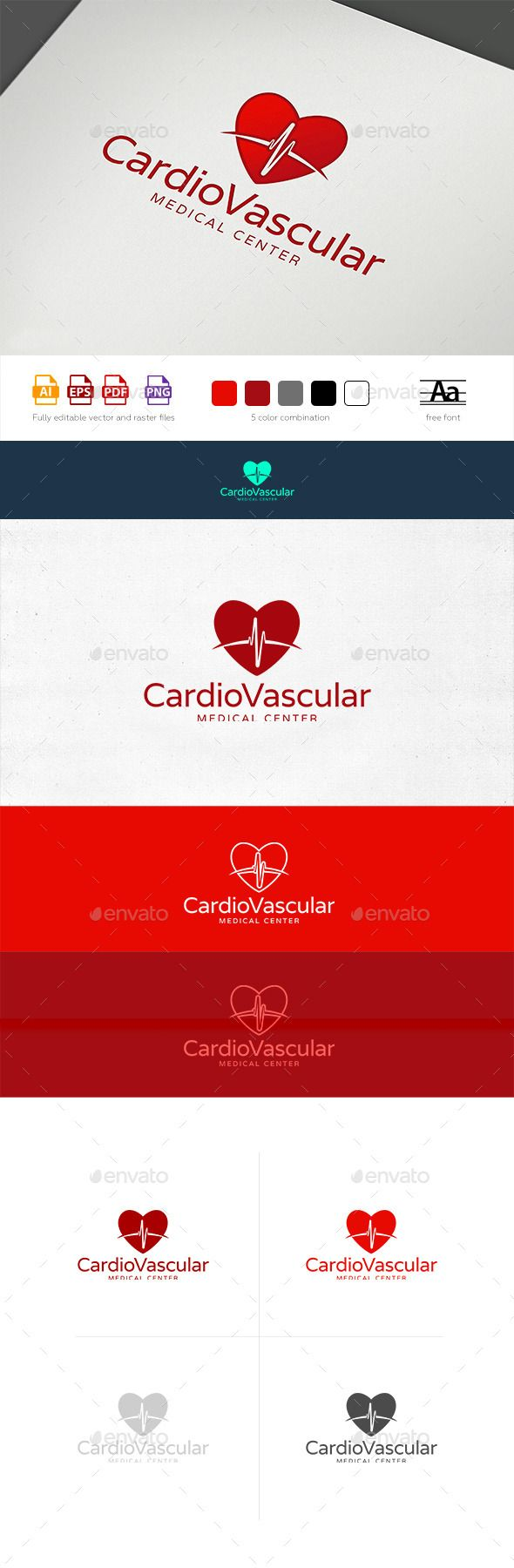 Heart rhythm logo template fonts logos icons pinterest logo buy heart rhythm logo template by osokinoz on graphicriver exclusively crafted logo for any healthcare business or medical technician accmission Images