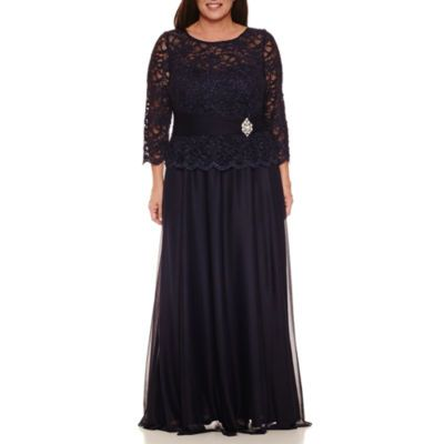 Jackie Jon Long Sleeve Evening Gown-Plus - JCPenney | Long ...