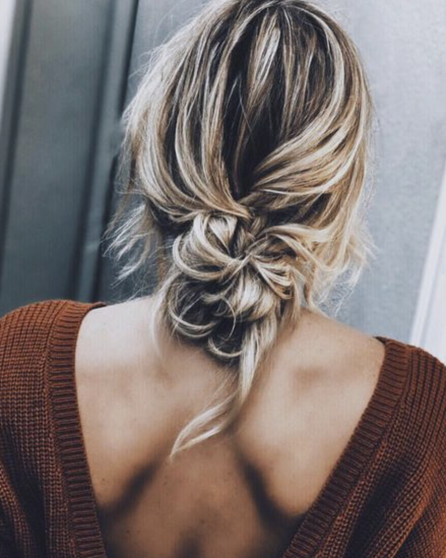 I wish my hair was long enough to do a pretty bun like this