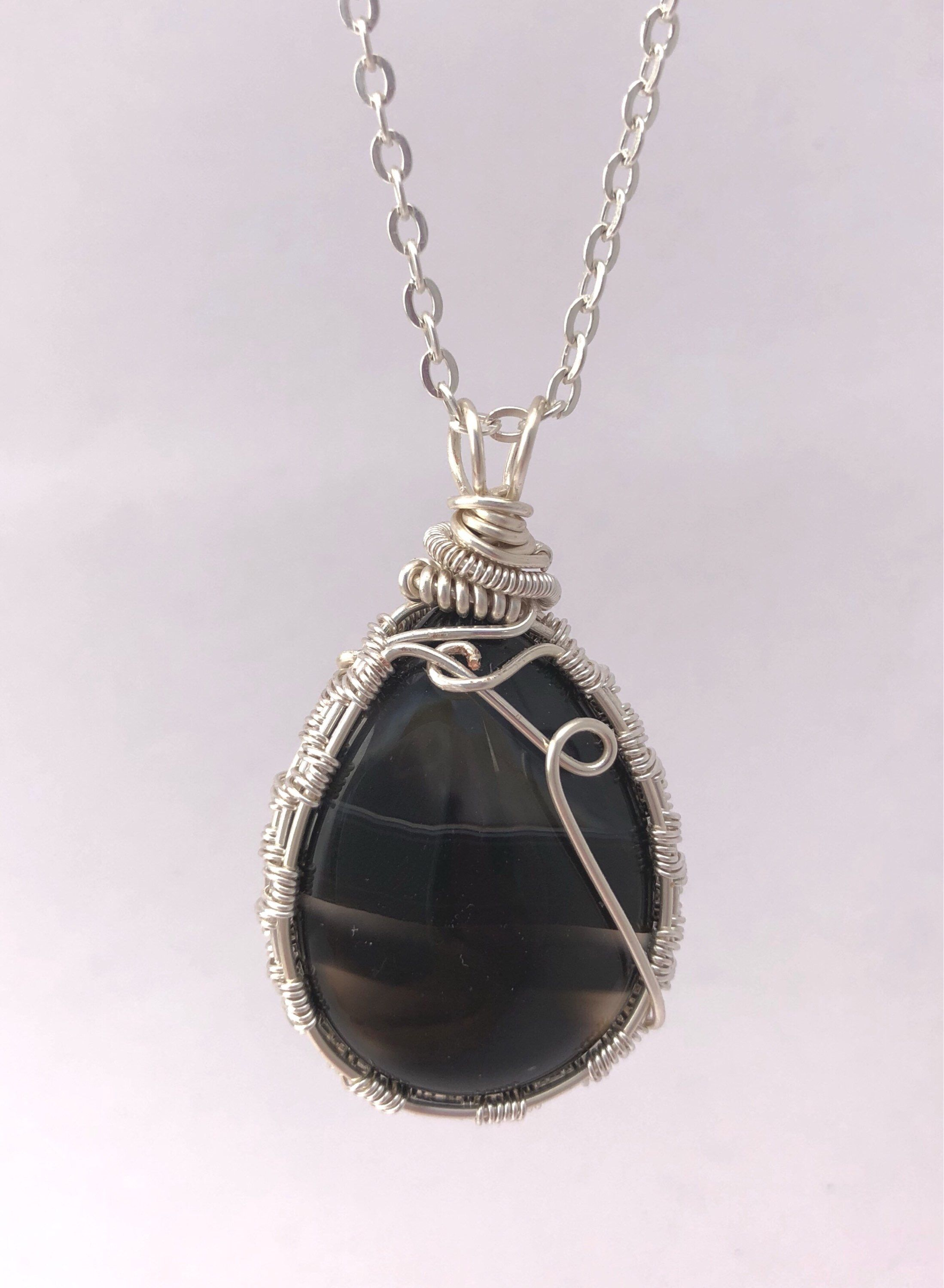 legacies oval pet onyx daybreak pendant more engraved photo necklace gem agate black product