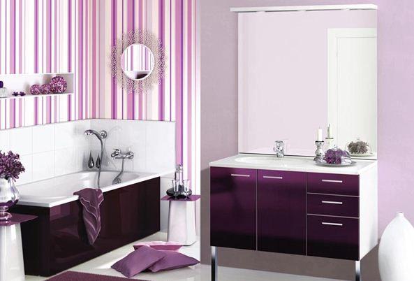 Lxury Purple Bathroom Lila Badezimmer Kleines Bad Dekorieren