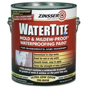Zinsser 1 Gal Watertite Mildew Proof Waterproofing Paint