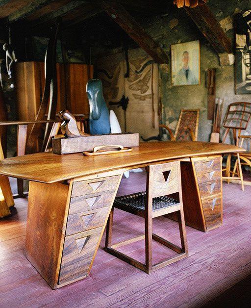 A Quiet Place Away Wharton Esherick Desk And Studio By Leslie Williamson:  October 2010. Modern DeskMidcentury ModernModern FurnitureFurniture DesignTree  ...