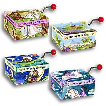 Mini Music Boxes Storybook - Honeybee Toys