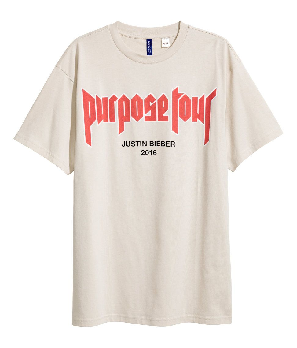 justin bieber purpose tour t shirt h m divided guys. Black Bedroom Furniture Sets. Home Design Ideas
