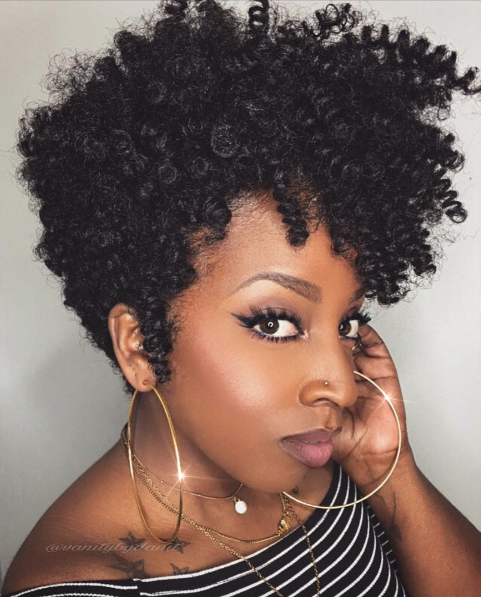 Natural hairstyles for short hair black women hair and tattoos - Find This Pin And More On Weaves Wigs Extensions Creative Crochet Pixie Black Hair Information