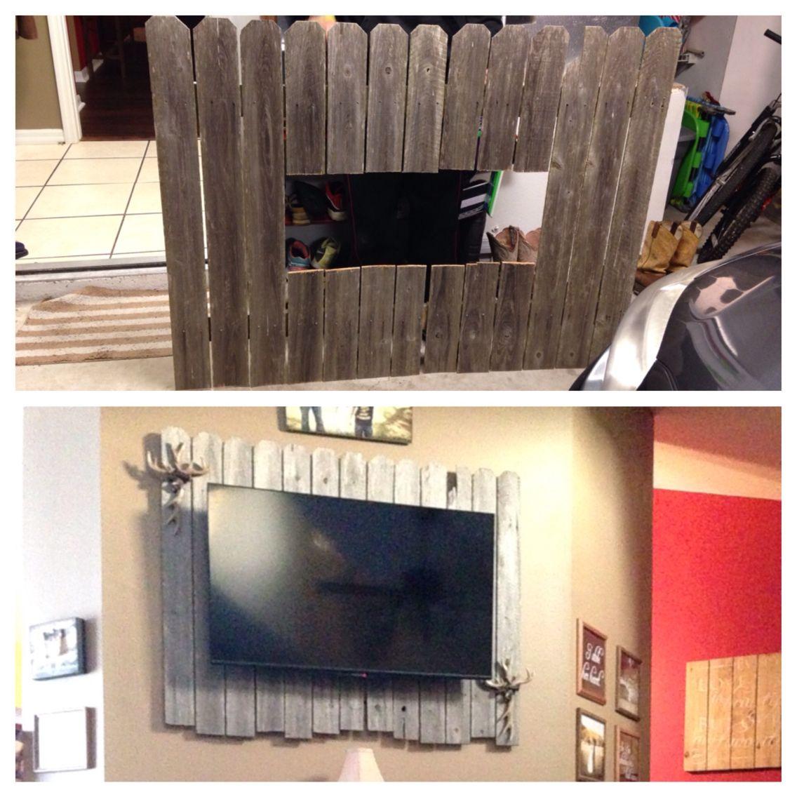 Framing A Tv Pallet Rustic Tv Back Drop Television Pinterest Pallets