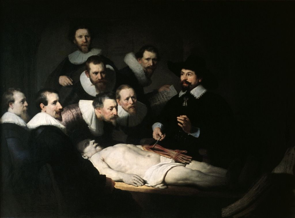 Rembrandt, The Anatomy Lesson of Dr. Nicolaes Tulp, 1632. Art ...