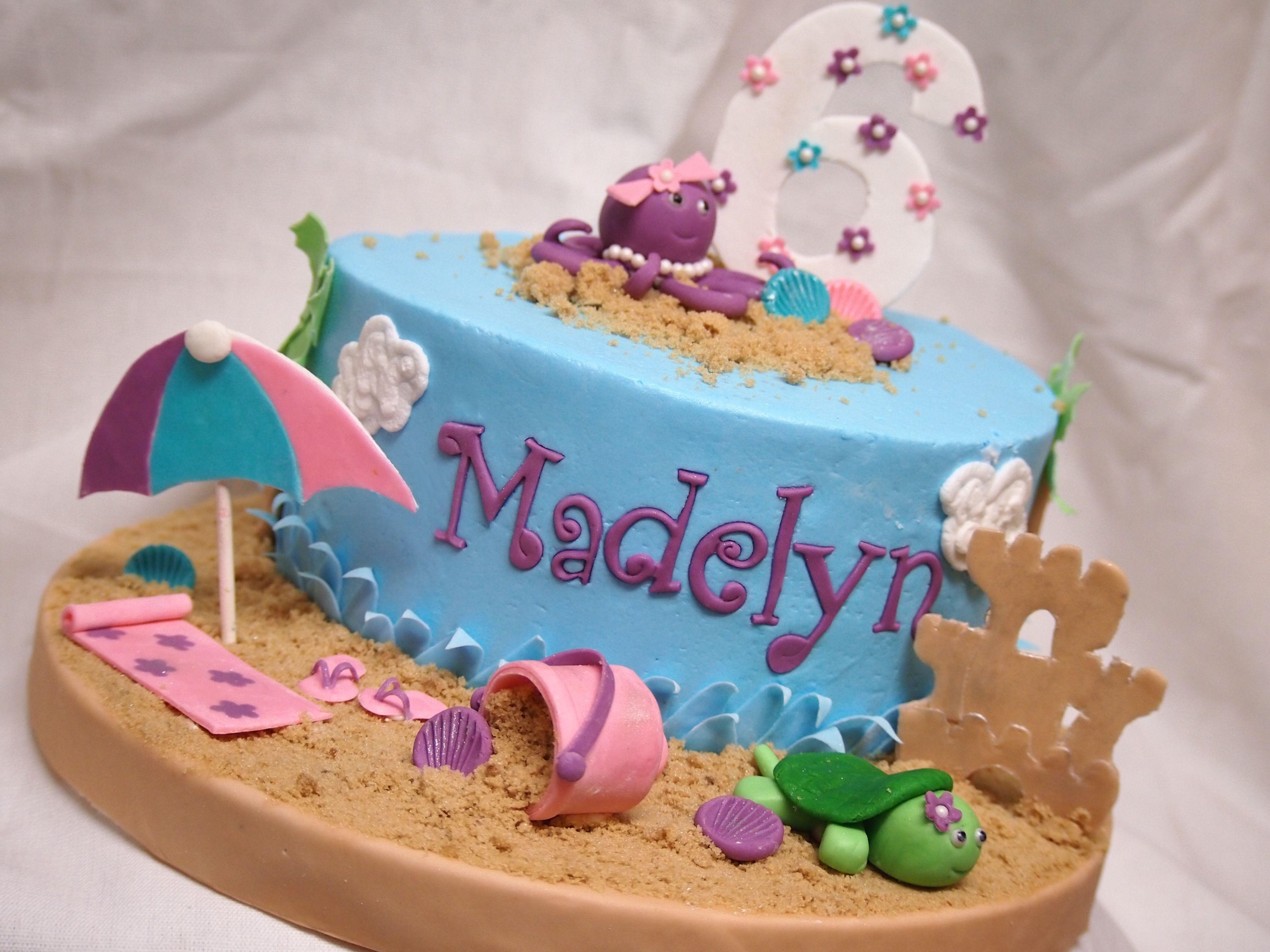 Beach Theme Pool Party Cake Pool Party Cakes