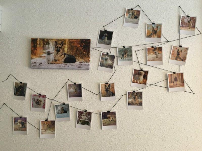Fotowand Gestalten Ohne Bilderrahmen