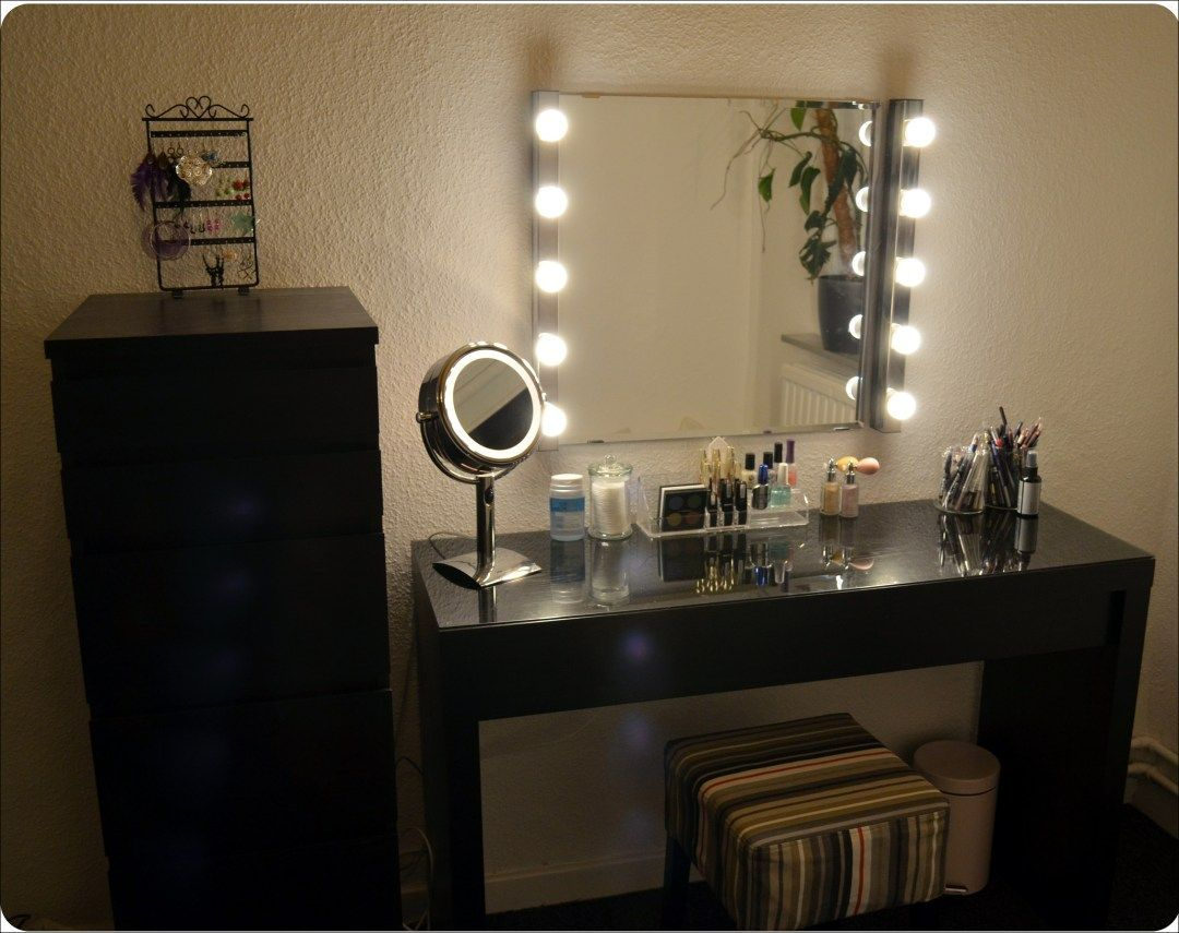 Diy Vanity Mirror With Led Lights Bathroom Small Simple Frame
