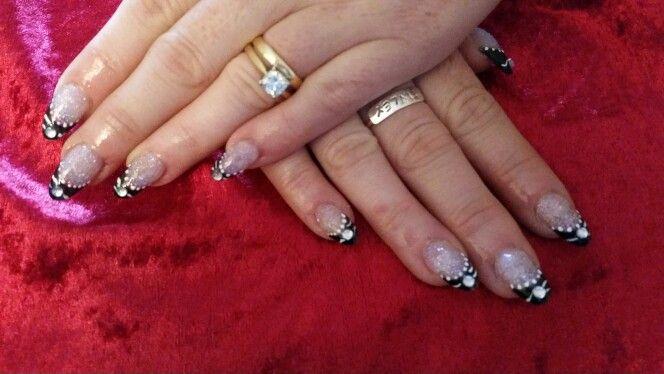 Black swan inspired nails