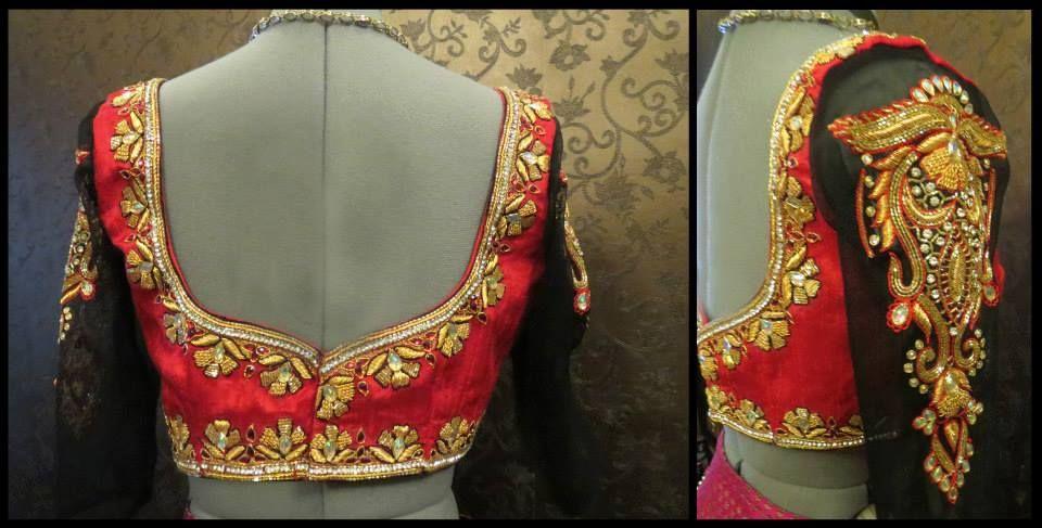 8afe67f33afc72 Love the work on bridal blouse. Mana Design Studio.  blouse  bridal  bride   brides  choli  dulhan  wedding  south  design  pattern