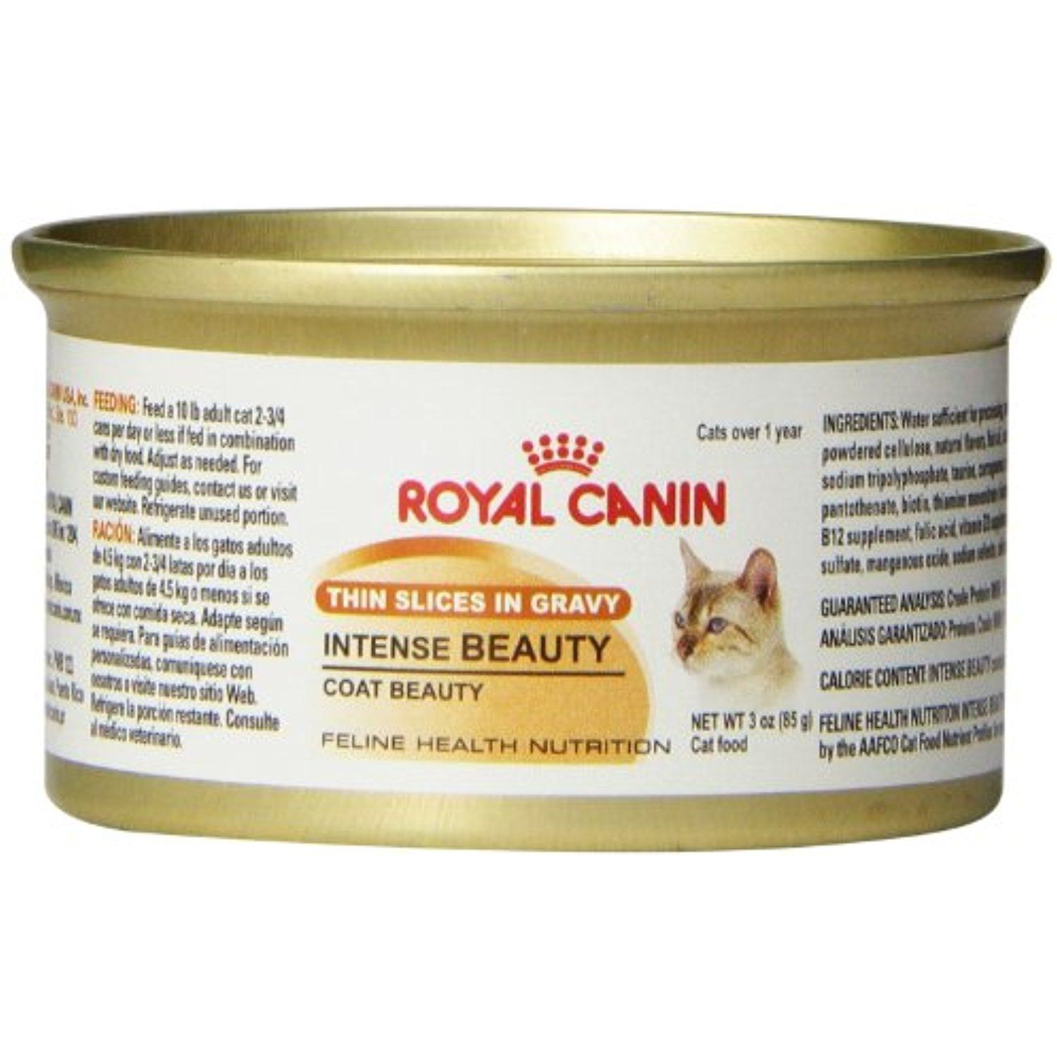 Royal Canin Canned Cat Food Intense Beauty Thin Slices In Gravy Pack Of 24 3 Ounce Cans Read More Reviews Of Canned Cat Food Feline Health Wet Cat Food