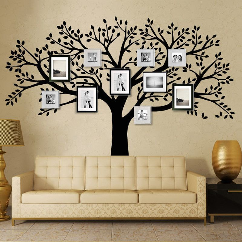 MCTUM Brand Family Tree Wall Decals Vinyl Wall Decal Photo Frame Tree  Stickers Living Room Home