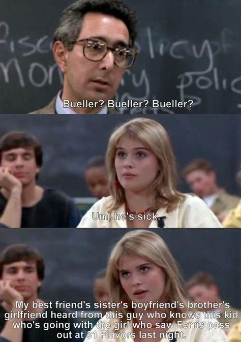 Ferris Beuller's Day Off Love that scene Favorite movie
