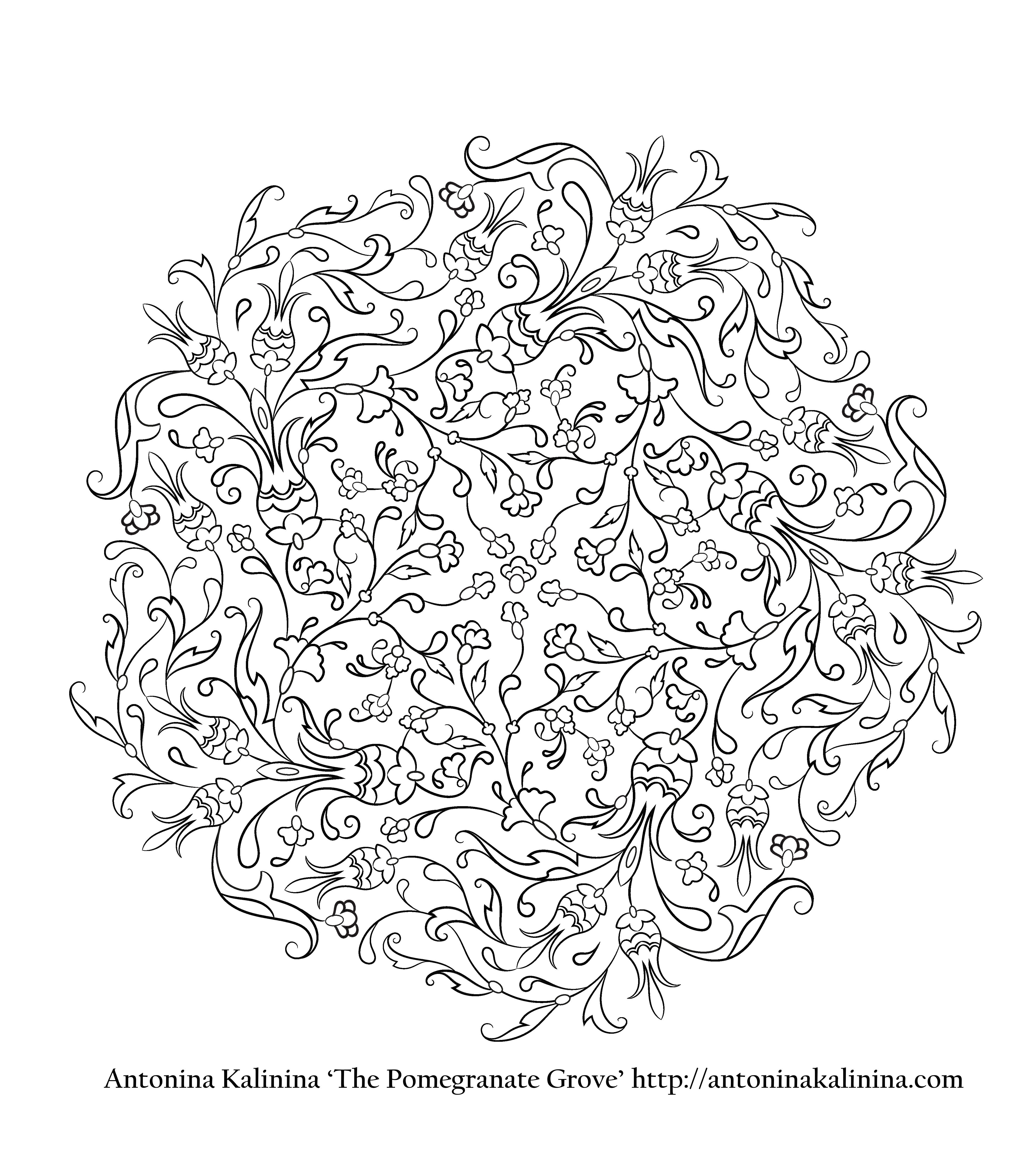 colouring books for adults asda : Zen Colouring Asda Here Is A Freebie From My Book For You To Try Out