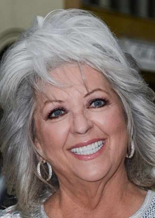 10 Long Gray Hairstyles   9. Paula Deen's layered gray hair   Style Goes Strong