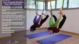 inverted rainbow pose with hammock  exercise 111