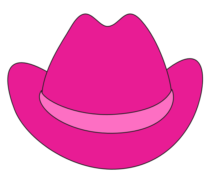 minnie mouse cowgirl hat clipart - Google Search | Felt ...