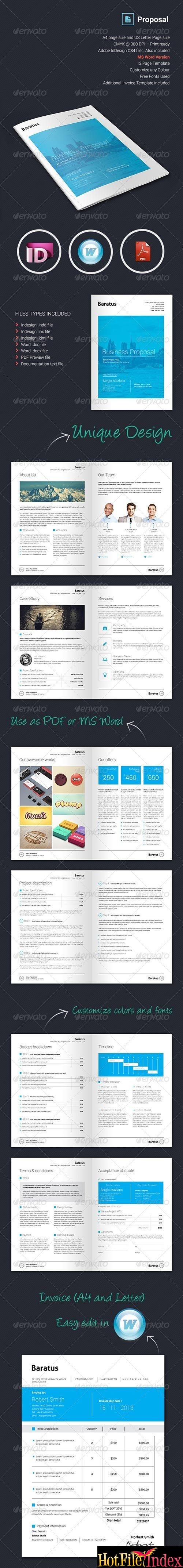 GraphicRiver Baratus Proposal & Invoice Template From