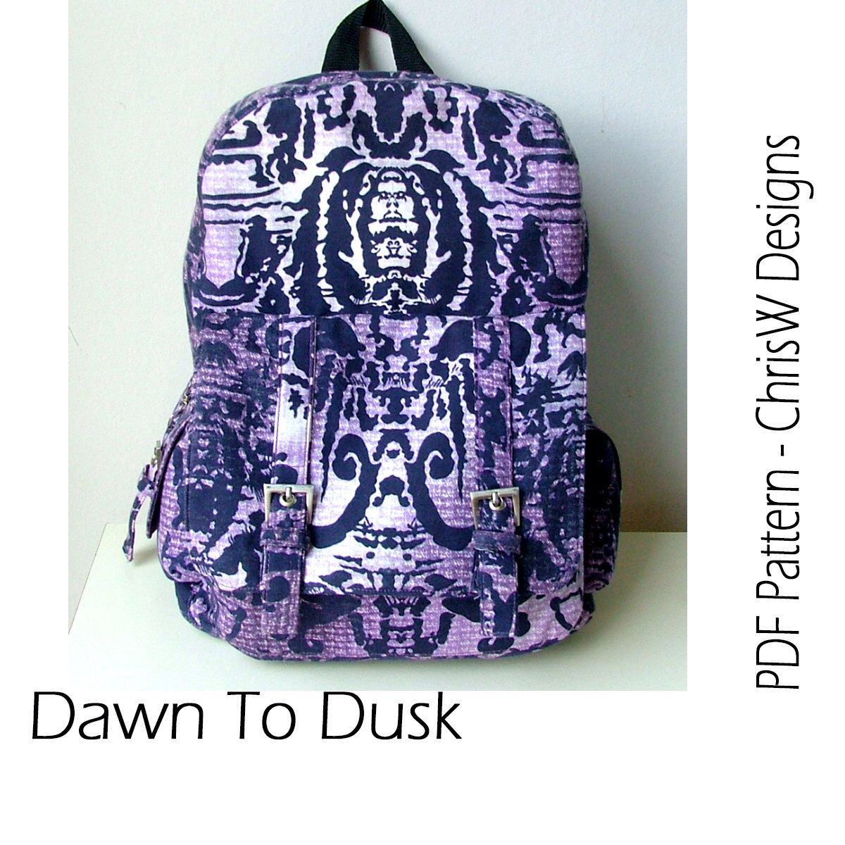 Backpack pdf bag sewing pattern dawn to dusk designer teen or backpack pdf bag sewing pattern dawn to dusk designer teen or adult jeuxipadfo Choice Image