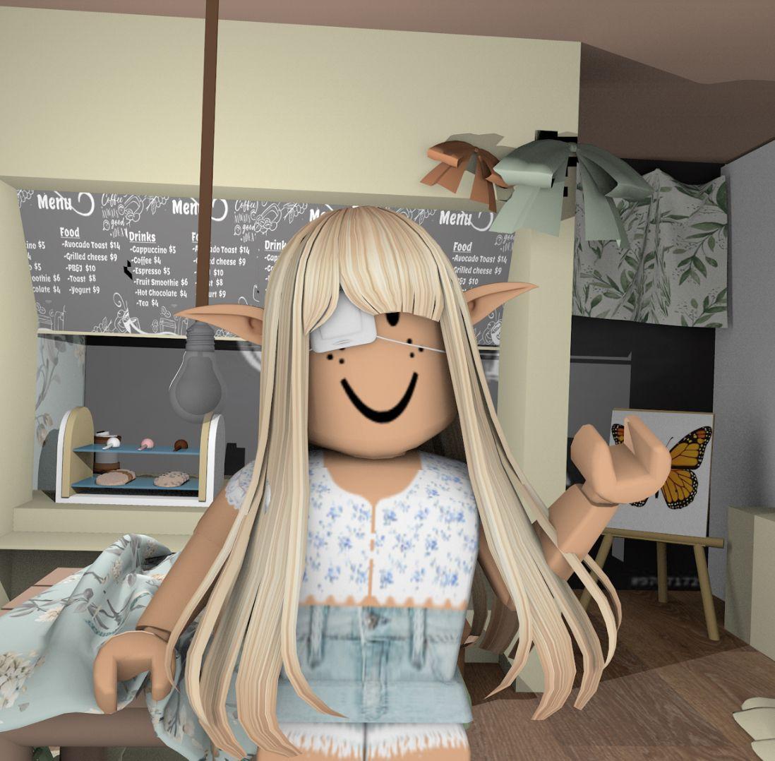 Gfx Roblox Girl Aesthetic Blond Hair Gfx Roblox Girl Aesthetic In 2020 Blythe Dolls Blythe Blonde Hair