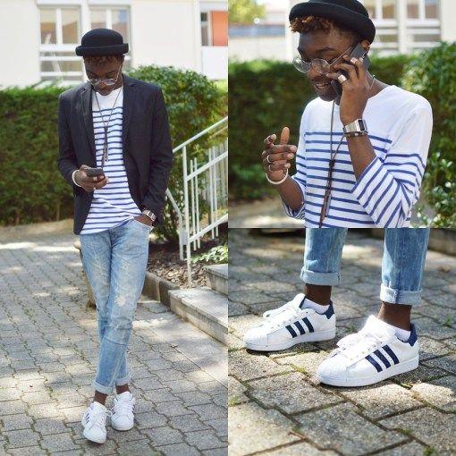 Organizar Lubricar Walter Cunningham  Básicos en zapatos para hombres   Adidas superstar para hombre, Estilo de  ropa hombre, Moda de adidas