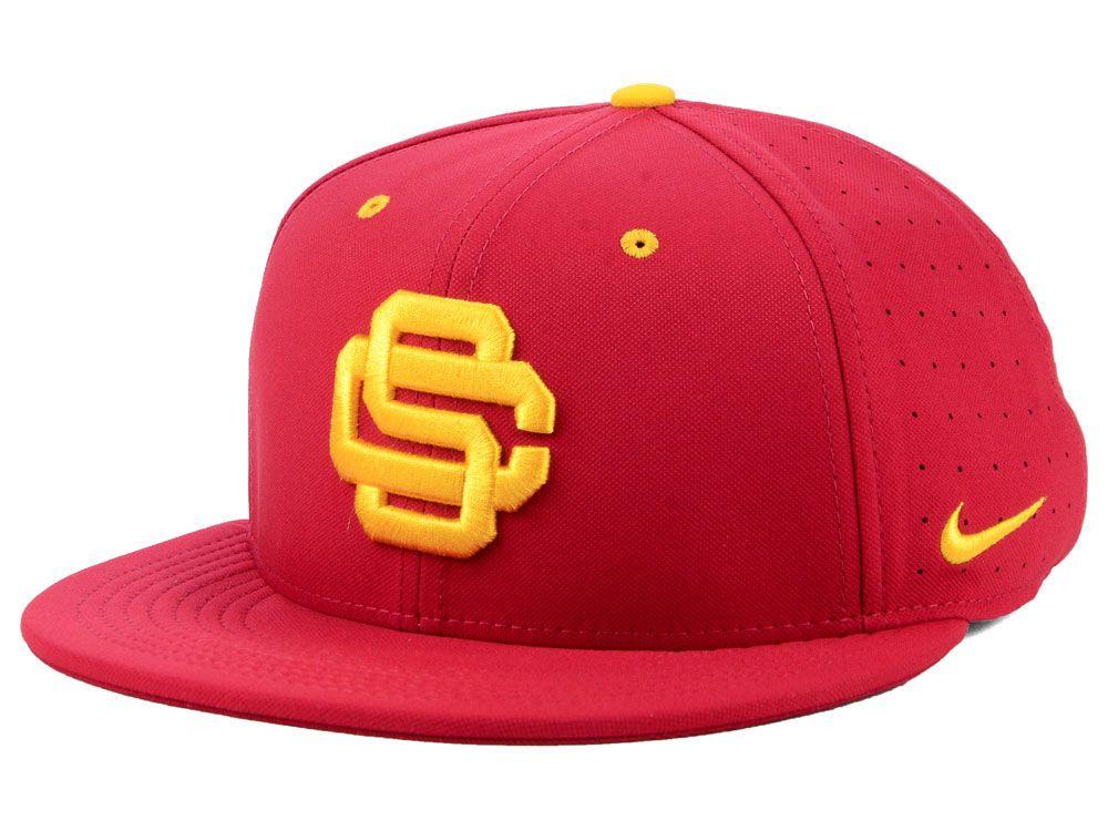 Usc Trojans Nike Ncaa Aerobill True Fitted Baseball Cap Usc Trojans Baseball Cap Baseball