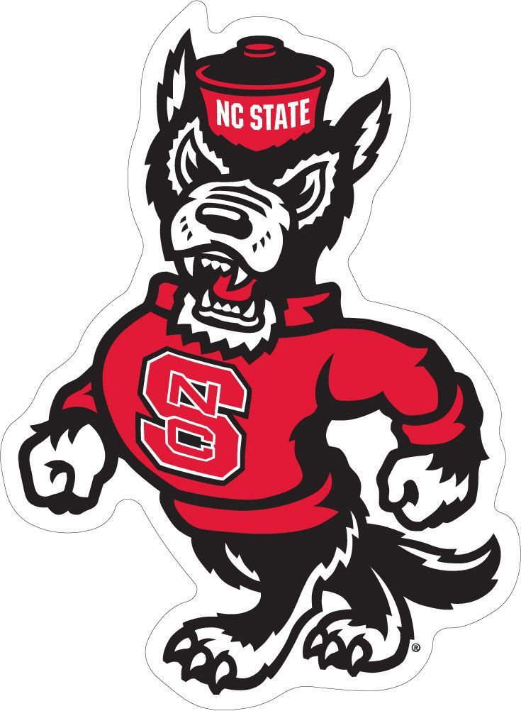 Nc State Strutting Wolf Decal Logos North Carolina