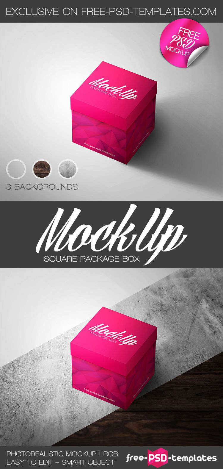 Download Free Square Package Box Free Psd Templates Free Photoshop Mockup Psd Box Packaging Psd Template Free Mockup