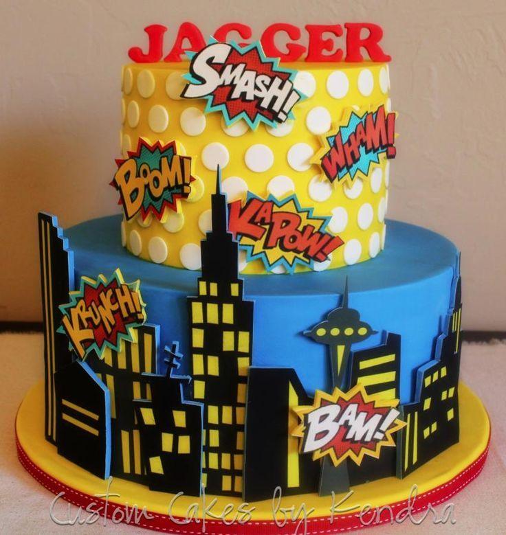 comic book cake