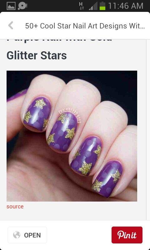 Glitter stars and matte dots