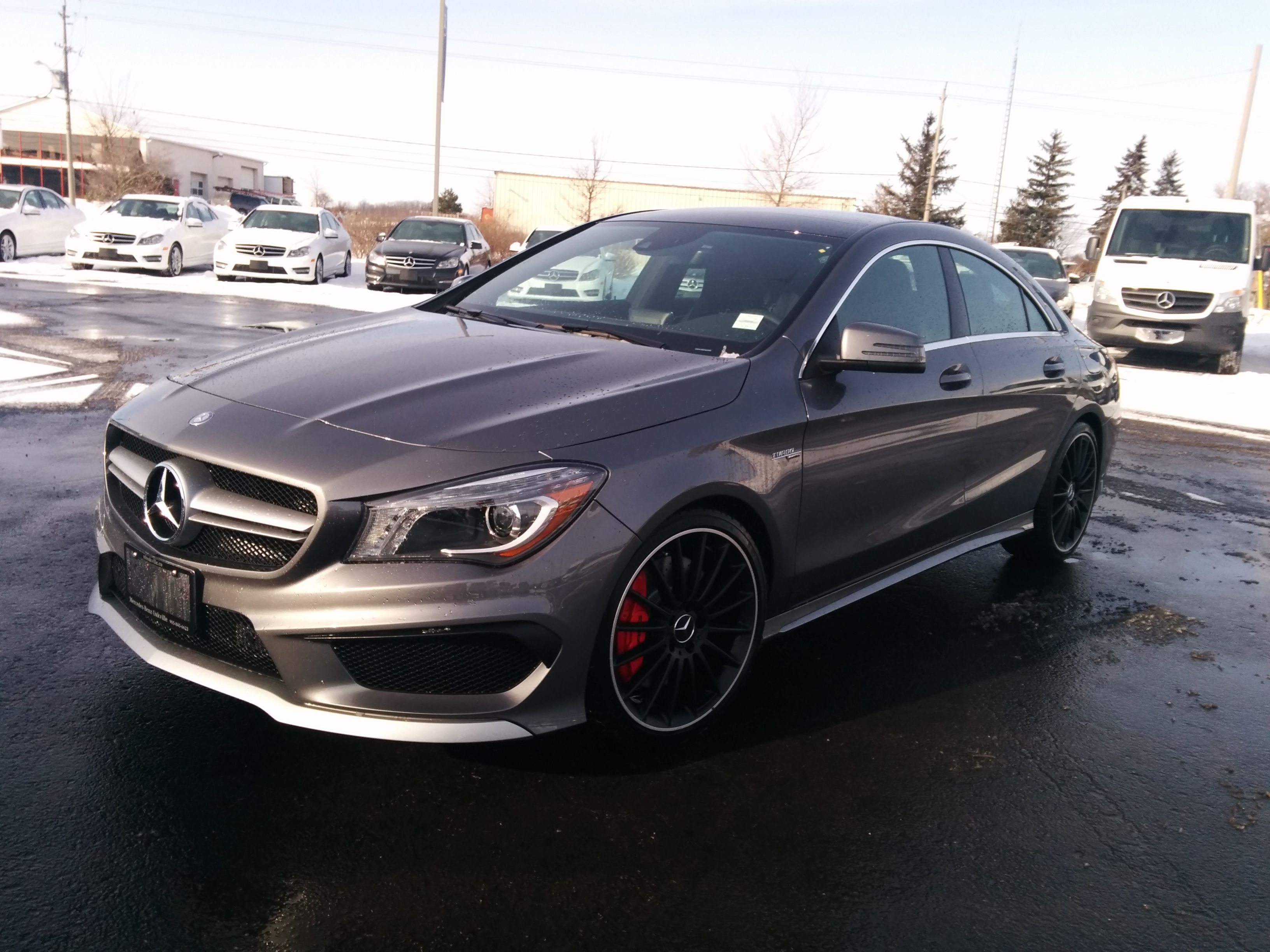 2014 mercedes benz cla 45 amg in mountain grey amg cla mercedes amg pinterest mercedes. Black Bedroom Furniture Sets. Home Design Ideas