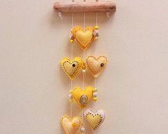 Mobile Corações Amarelos