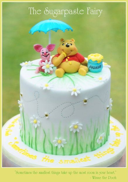 Winnie The Pooh Baby Shower Cake With Images Disney Birthday