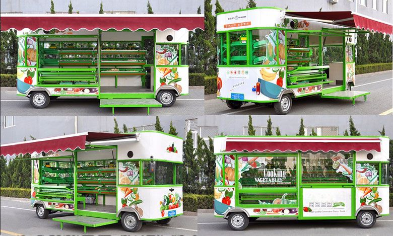 Customized vegetable vending cart fruit display cart email for Mobili convenienti