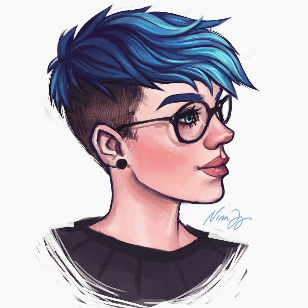 Tonight S Babe I Miss Having Blue Hair Girl Haircuts How To Draw Hair Photo Prompts