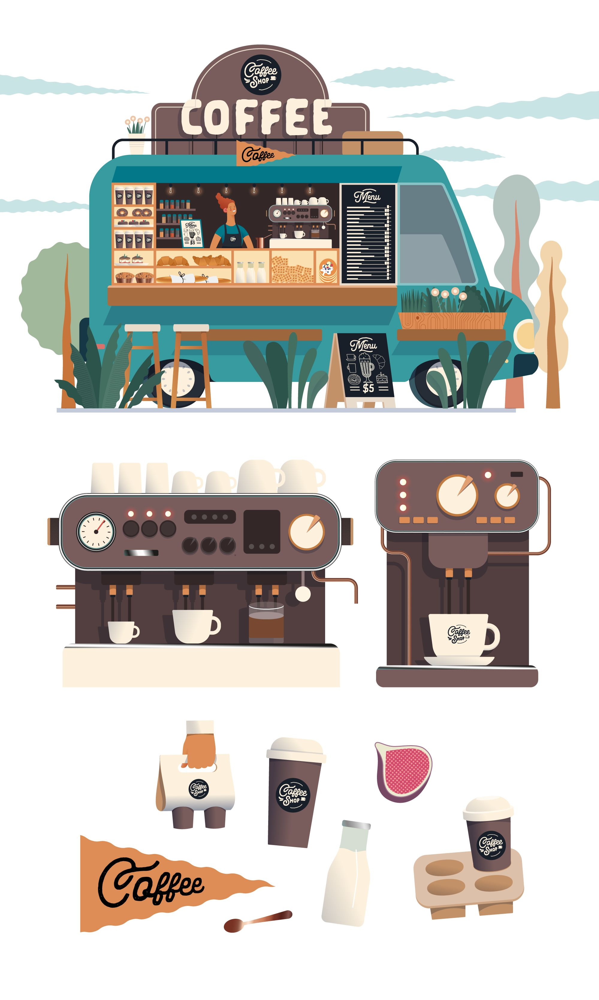 Small business - Coffee shop | Stock Photo and Image Collection by Grinbox | Shutterstock
