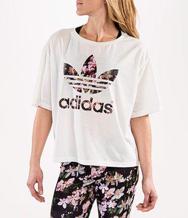 a90079572bb FinishLine Women's adidas Originals Orchid Trefoil T-Shirt | clothes ...